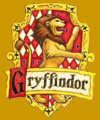 Gryffindor Shield on gold